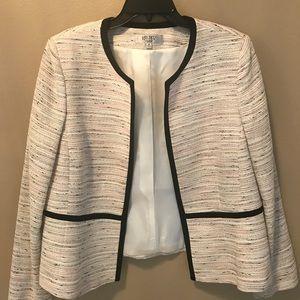 Multi Color Tweed Trim Blazer